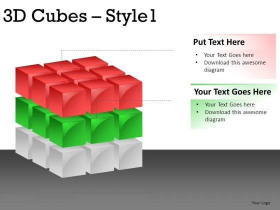 Business 3d Cube 1 PowerPoint Slides And Ppt Diagram Templates