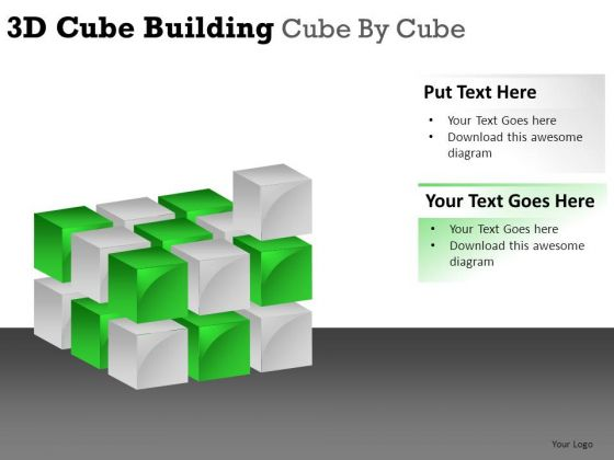 Business 3d Cube Building PowerPoint Slides And Ppt Diagram Templates