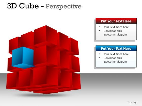 Business 3d Cube Perspective PowerPoint Slides And Ppt Diagram Templates
