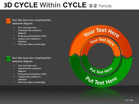 Business 3d Cycle Within Cycle PowerPoint Slides And Ppt Diagram Templates