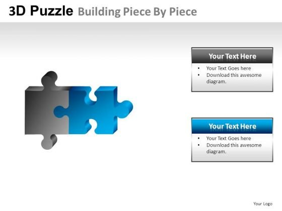 Business 3d Puzzle Building Piece PowerPoint Slides And Ppt Diagram Templates
