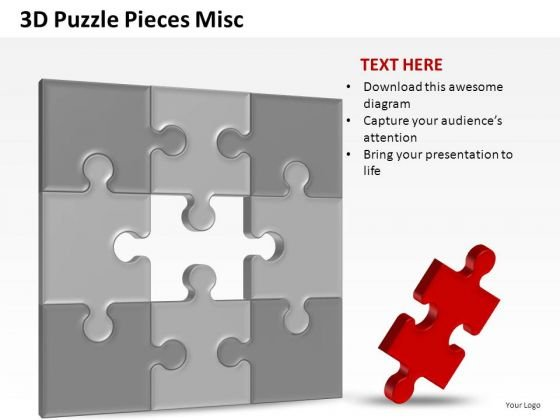 Business 3d Puzzle Pieces Misc PowerPoint Slides And Ppt Diagram Templates