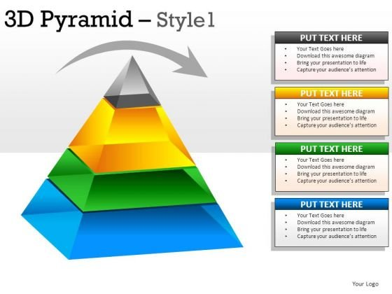Business 3d Pyramid 1 PowerPoint Slides And Ppt Diagrams Templates