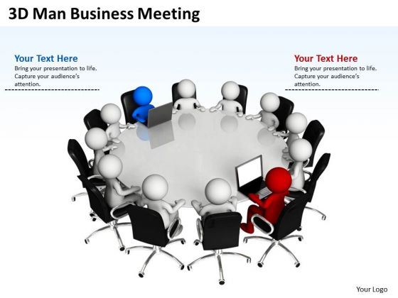 Business Analysis Diagrams 3d Men PowerPoint Presentations Meeting Slides