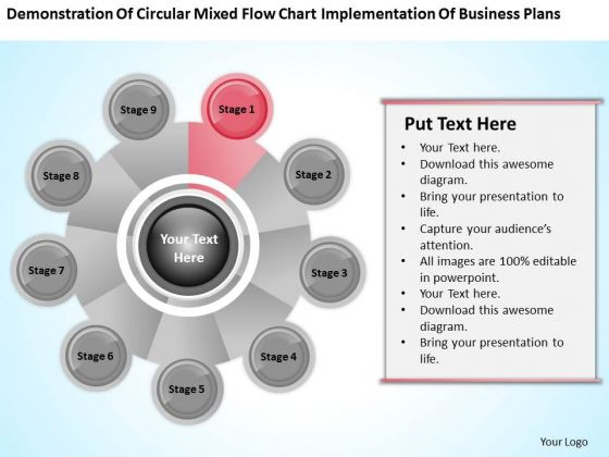 Business Analysis Diagrams Flow Chart Implementation Plans PowerPoint Templates
