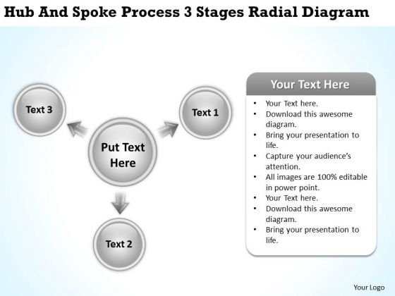 Business Analyst Diagrams Radial PowerPoint Templates Backgrounds For Slides