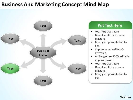 Business And Marketing Concept Mind Map Ppt Internet Plan Powerpoint