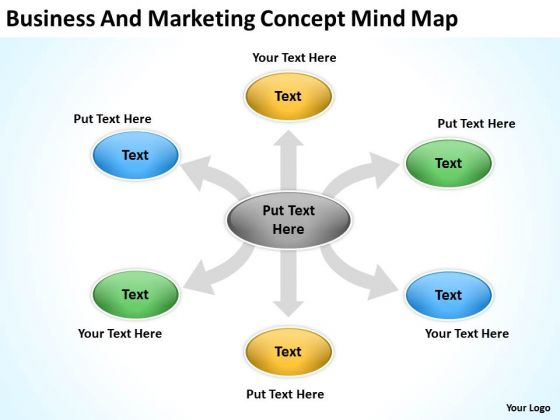 Business And Marketing Concept Mind Map Ppt Subway Plan PowerPoint Slides