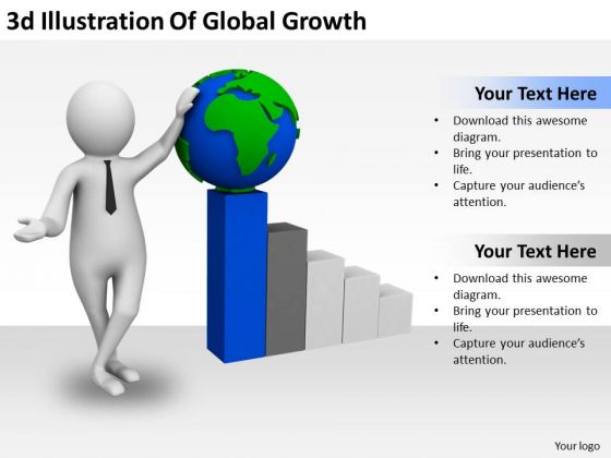 Business And Strategy 3d Illustration Of Global Growth Characters