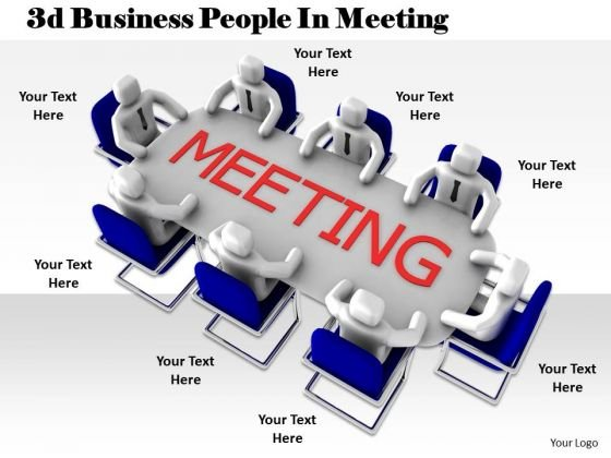 Business And Strategy 3d People Meeting Concepts
