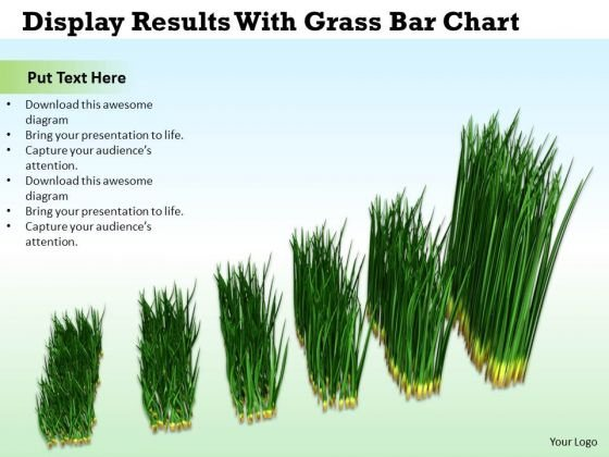 Business And Strategy Display Results With Grass Bar Chart Images