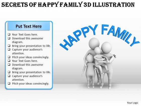 Business And Strategy Secrets Of Happy Family 3d Illustration Basic Concepts