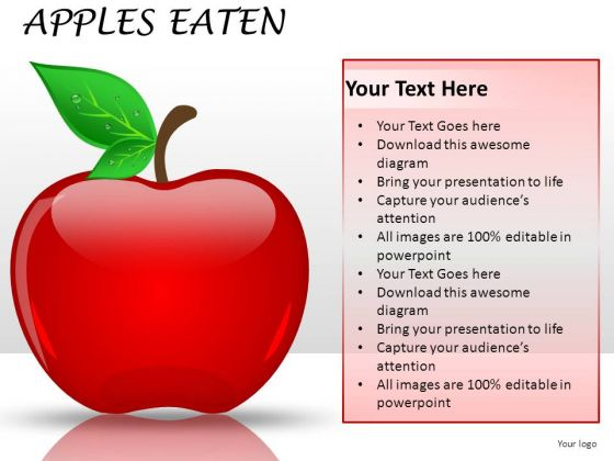 Business Apples Eaten PowerPoint Slides And Ppt Diagrams Templates