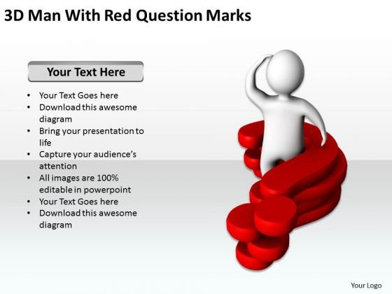 Business Architecture Diagram Red Question Marks 2 PowerPoint Templates Ppt Backgrounds For Slides
