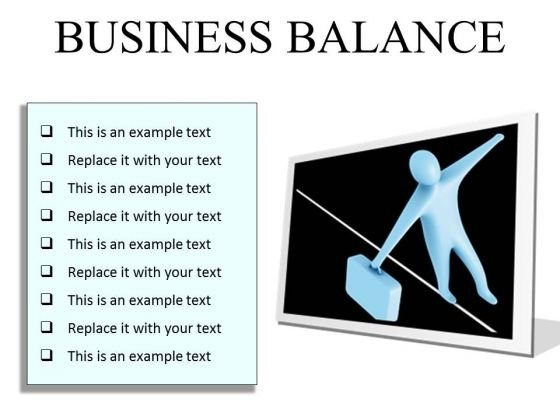 Business Balance Success PowerPoint Presentation Slides F