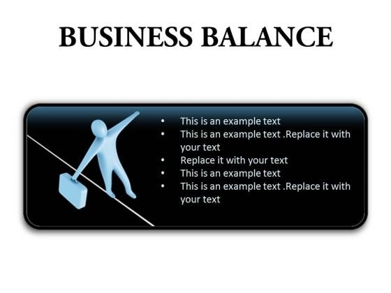 Business Balance Success PowerPoint Presentation Slides R