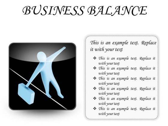 Business Balance Success PowerPoint Presentation Slides S