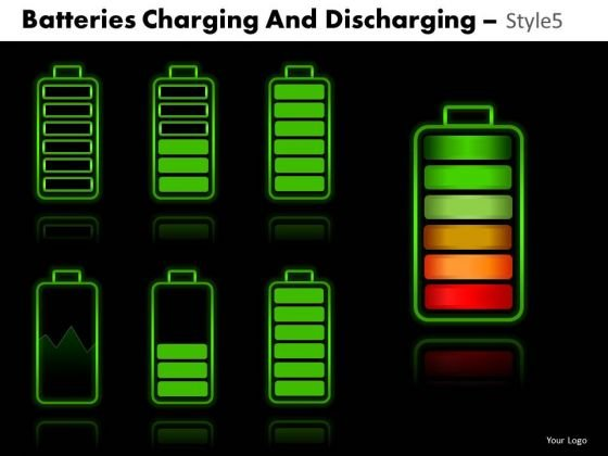 Business Batteries Charging And Discharging 5 PowerPoint Slides And Ppt Diagram Templates