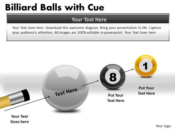 Business Billiard Balls With Cue PowerPoint Slides And Ppt Diagram Templates