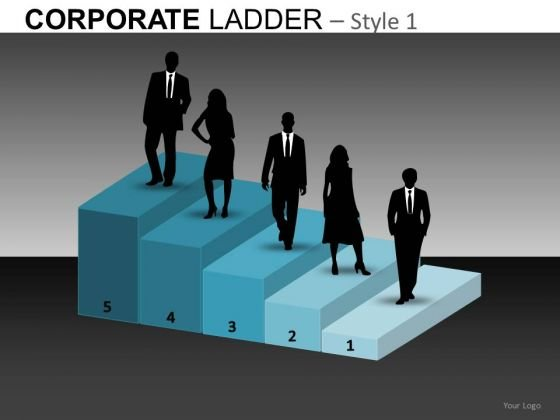 Business Career Growth Corporate Ladder PowerPoint Templates