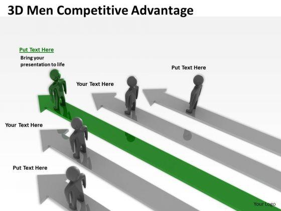 Business Case Diagram 3d Men Competitive Advantage PowerPoint Templates