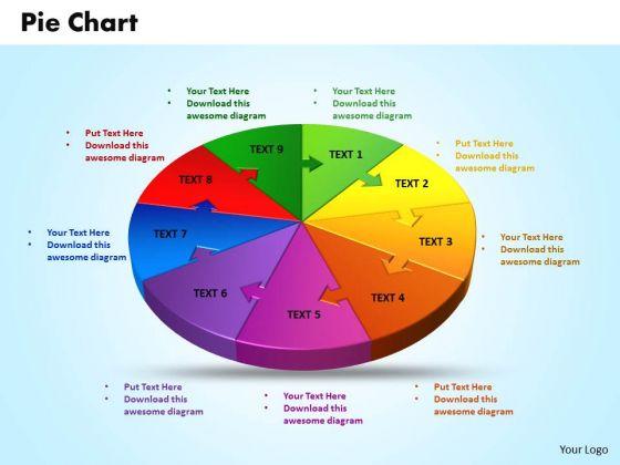 Business Chart PowerPoint Templates Business 3d Jigsaw Circular Pie Chart Ppt Slides