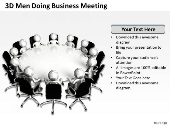 Business Charts 3d Men Doing PowerPoint Presentation Meeting Templates