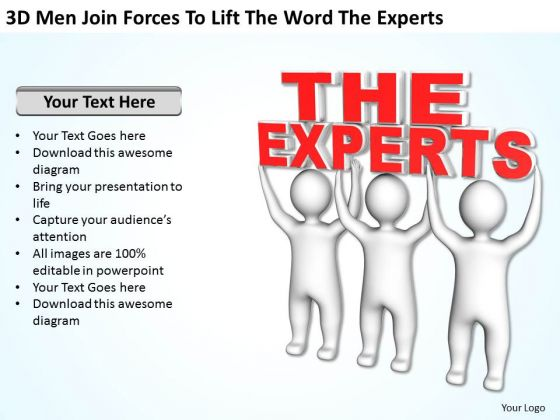 Business Charts Examples Lift The Word Experts PowerPoint Templates Ppt Backgrounds For Slides