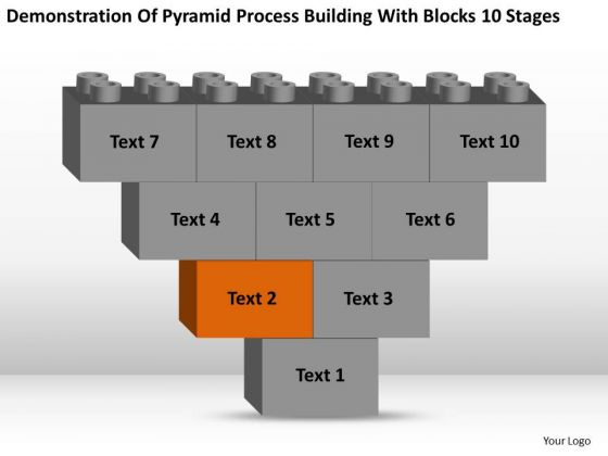 Business Charts Examples Of Pyramid Process Building With Blocks 10 Stages Ppt PowerPoint Slides