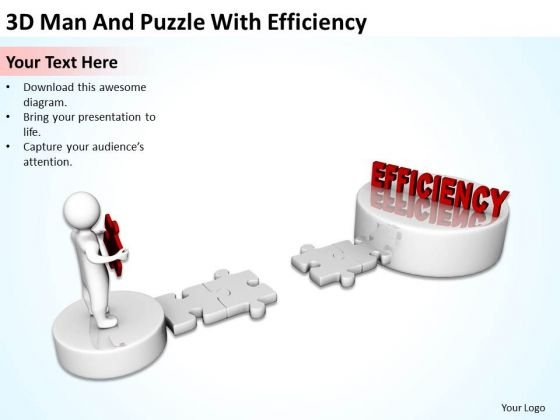 Business Charts Man And Puzzle With Efficiency PowerPoint Templates Ppt Backgrounds For Slides
