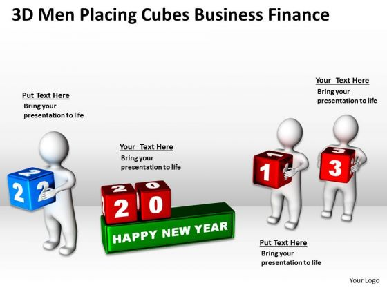 Business Charts Placing Cubes PowerPoint Presentation Finance Templates