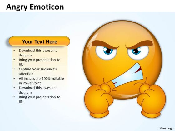 Business Charts PowerPoint Templates An Illustration Of Angry Emotion Sales