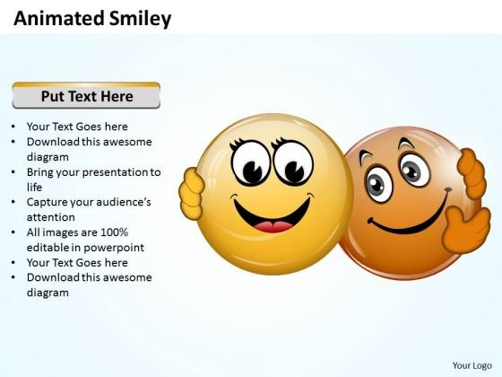 Business Charts PowerPoint Templates Animated Smiley Faces With Different Emotion