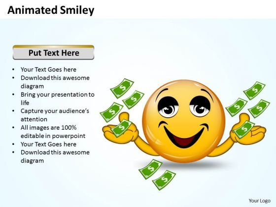 Business Charts PowerPoint Templates Animated Smiley With Happy Emotion