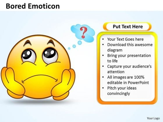 Business Charts PowerPoint Templates Bored Emoticon Illustration Picture Sales