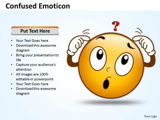 Business Charts PowerPoint Templates Design Of Confused Emoticon Sales