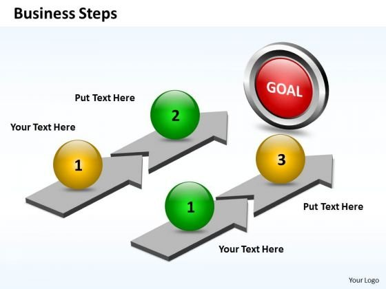 Business Charts PowerPoint Templates Parallel Plan Explain Steps