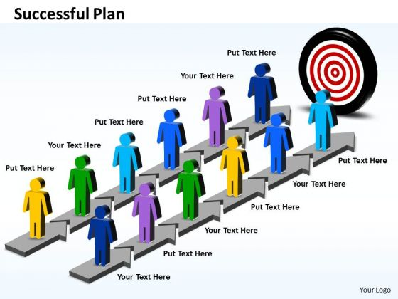 Business Charts PowerPoint Templates Parallel Steps For Successful Plan