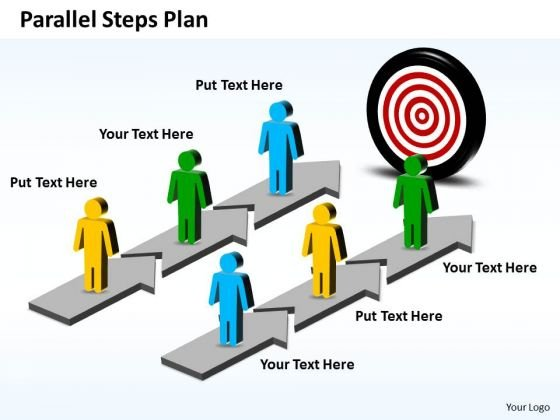 Business Charts PowerPoint Templates Parallel Steps Plan To Achieve Goal
