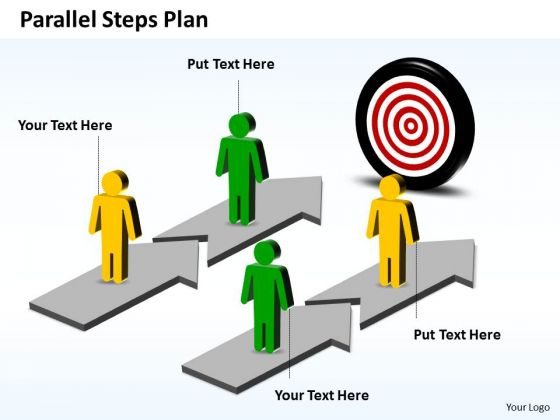 Business Charts PowerPoint Templates Parallel Steps Plan Towards Goal
