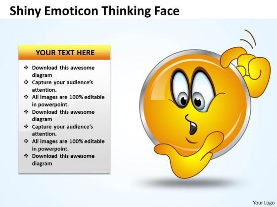 Business Charts PowerPoint Templates Shiney Emoticon Thinking Face Sales