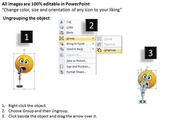 business_charts_powerpoint_templates_singing_smiley_emoticon_with_mike_sales_2
