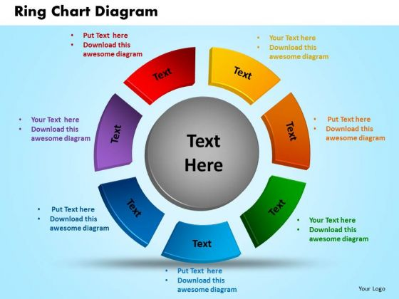 business circle charts powerpoint templates diagram ring chart ppt