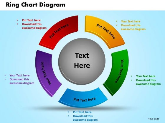 business circle charts powerpoint templates growth ring chart ppt