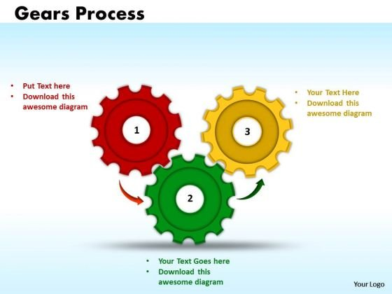 Business Circle Charts PowerPoint Templates Marketing Gears Process Ppt Slides