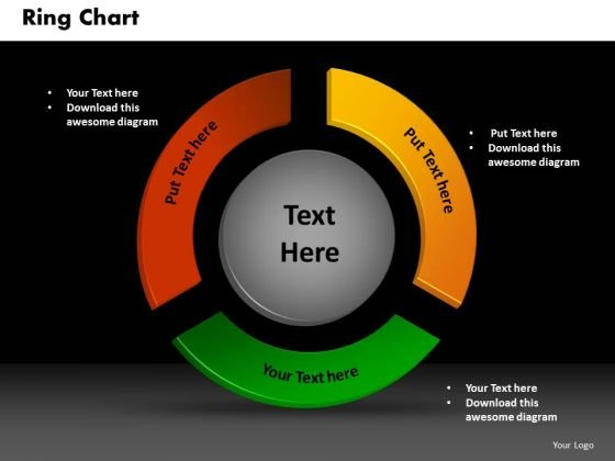 Business Circle Charts PowerPoint Templates Sales Ring Chart Ppt Slides
