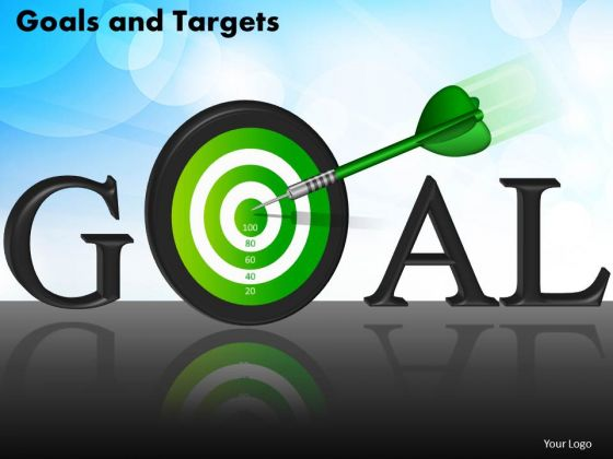 Business Circle Charts PowerPoint Templates Success Goals And Targets Ppt Slides