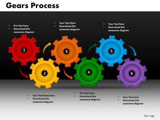 Business Circular Charts PowerPoint Templates Success Gears Process Ppt Slides