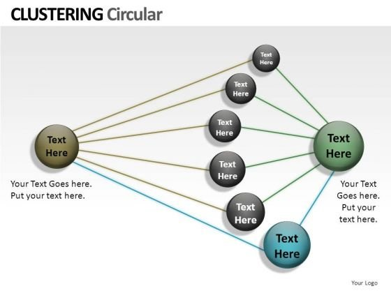 Business Clustering Circular PowerPoint Slides And Ppt Diagram Templates
