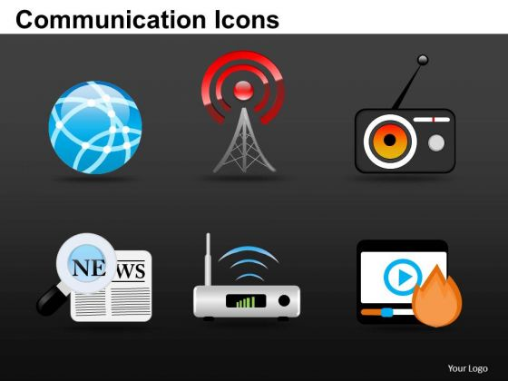 Business Communication Icons PowerPoint Slides And Ppt Diagram Templates